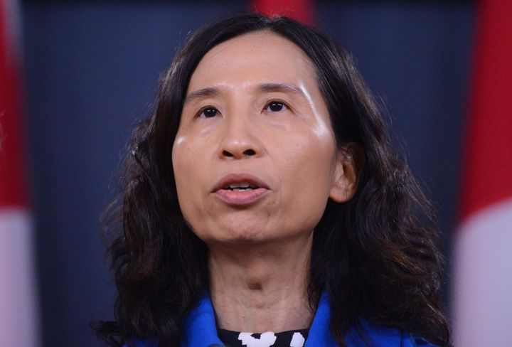 Canada's chief public health officer Dr. Theresa Tam attends a news conference updating the COVID-19 situation at the National Press Theatre in Ottawa on March 13, 2020.