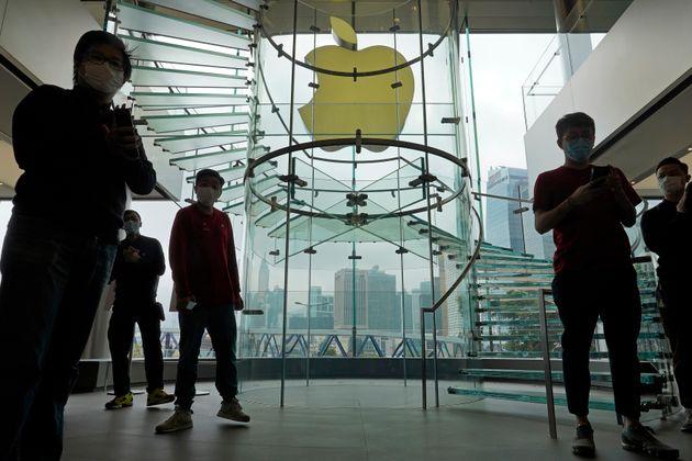 En Chine en revanche, les magasins Apple ont