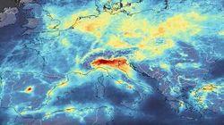 Ces images montrent la chute drastique des gaz à effet de serre en
