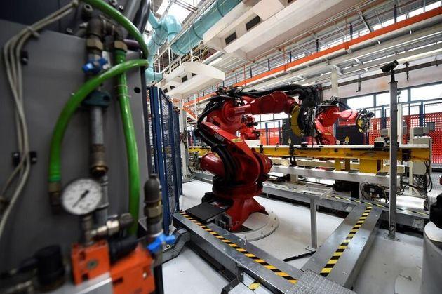 Dettaglio di una fabbrica Fiat a