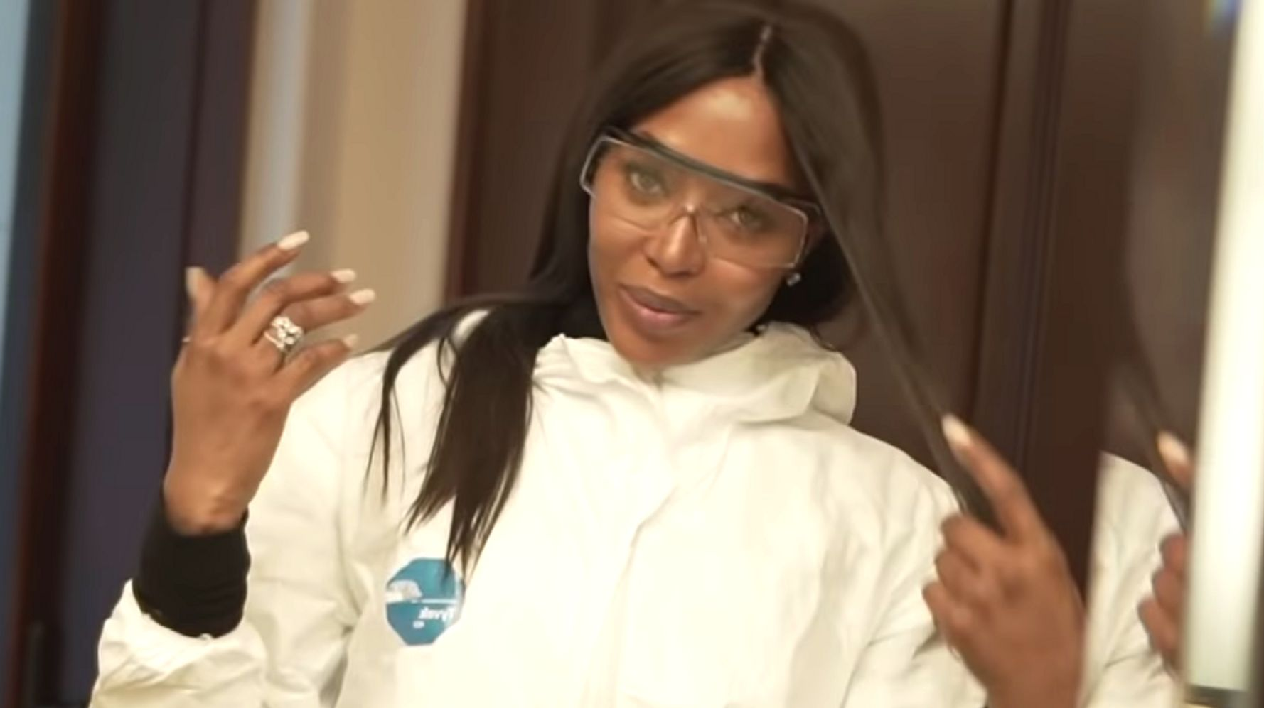 Image result for Naomi Campbell Opens Up About Coronavirus Hazmat Suit: 'Not Doing This For Laughs'