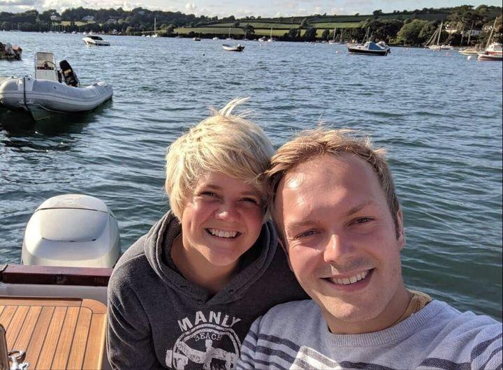 Becky Wass with her husband Jon Green