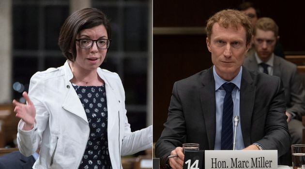 NDP MP Niki Ashton and Indigenous Services Minister Marc Miller are shown in a composite image of photos...