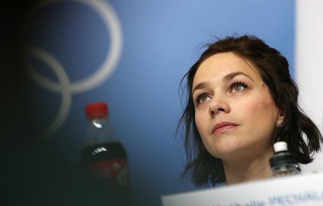 Nathalie Péchalat, ici à Sotchi en Russie avant les Jeux olympiques, le 5 février