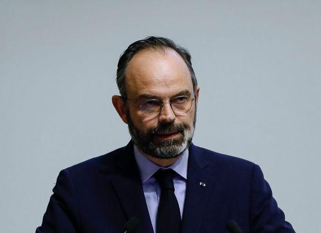 Édouard Philippe, ici annonçant de nouvelles mesures pour limiter la propagation de Covid-19,...