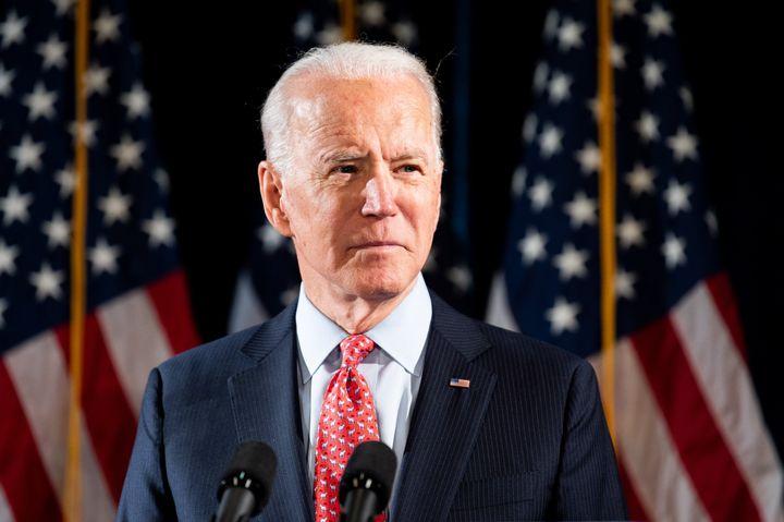 Former Vice President Joe Biden speaks about the coronavirus on March 12.