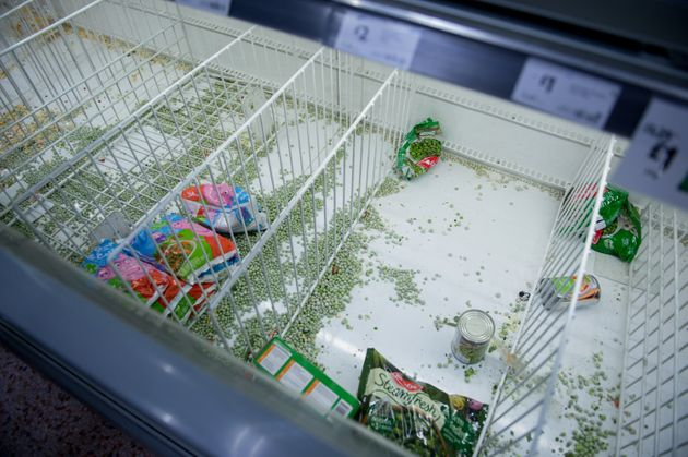 Panic-buying has led to empty shelves in supermarkets nationwide.