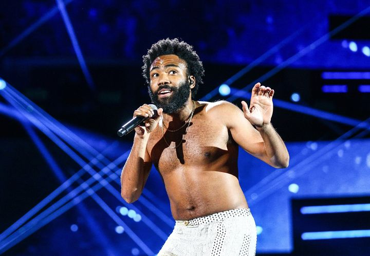 Donald Glover performs onstage during the iHeartRadio Music Festival in 2018.