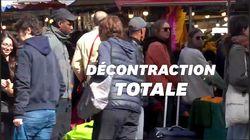 Le coronavirus, les clients de ce marché parisien s'en