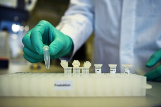 German biopharmaceutical company CureVac is developing a vaccine for the coronavirus disease at its laboratory...