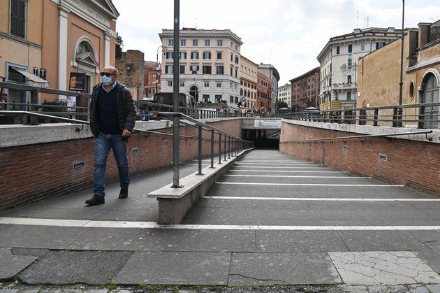 Dans le centre de Rome le 15 mars