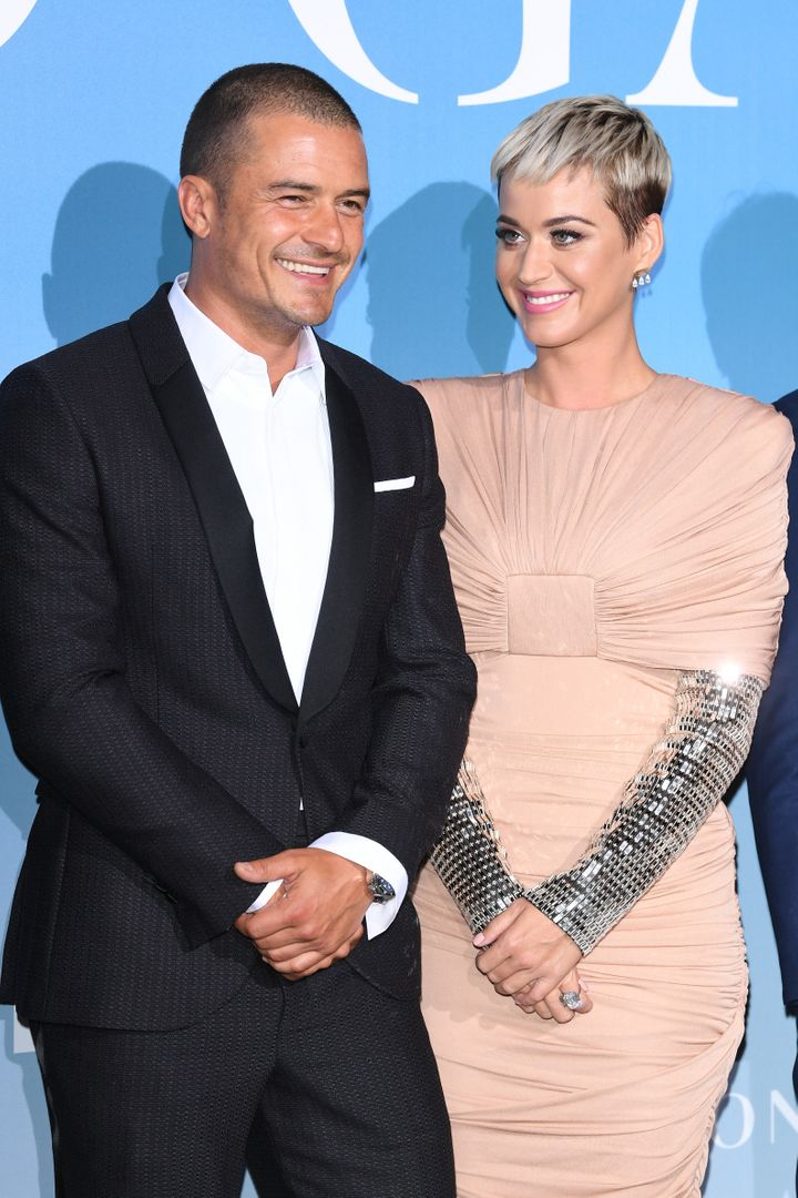 Orlando Bloom and Katy Perry attend the Gala for the Global Ocean on Sept. 26, 2018, in Monte-Carlo, Monaco.