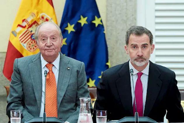 Felipe VI y Juan Carlos I en una imagen de