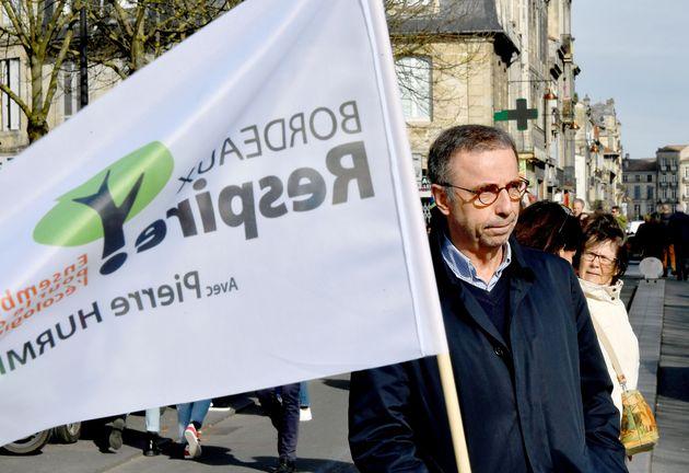 L'écolo Humric (ici en photo) en tête à Bordeaux, LREM