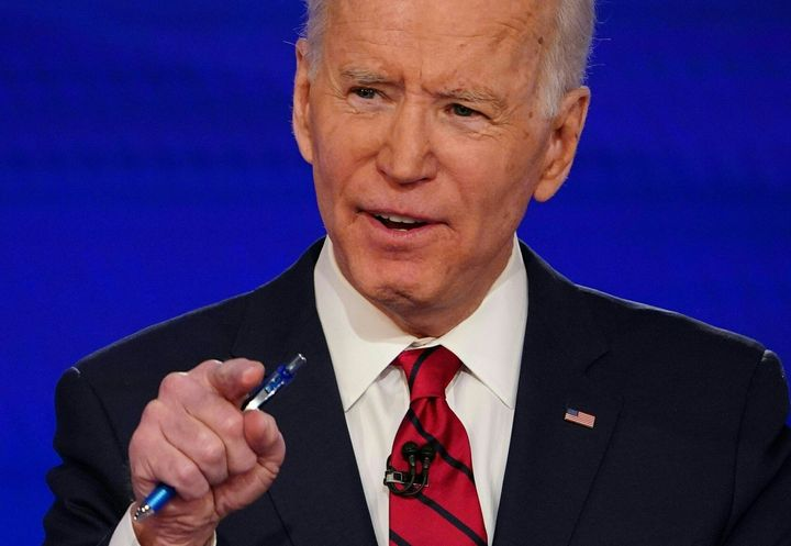 Debate moderators didn't step in when Biden made some inaccurate claims about his record.
