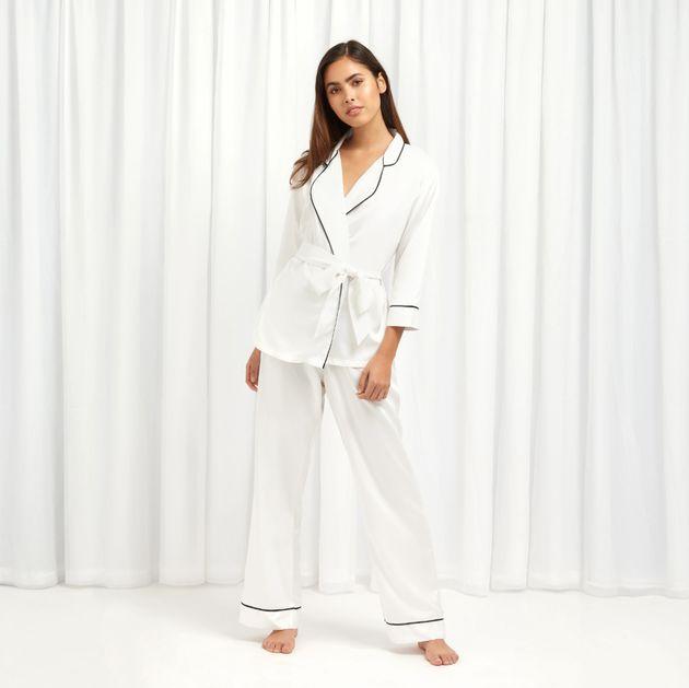 Wren Kimono and Trouser Set Ivory, Bluebella, £44