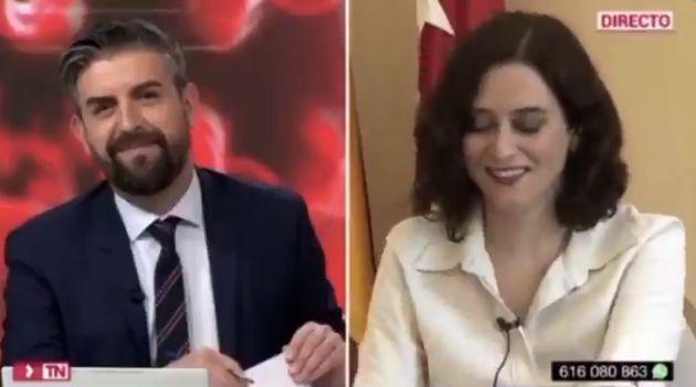 Díaz Ayuso en la entrevista en