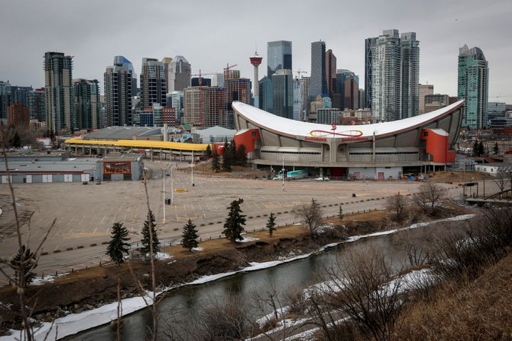 Calgary's skyline is seen here on March 12. On Sunday, city officials declared a state of emergency to address the COVID-19 pandemic.
