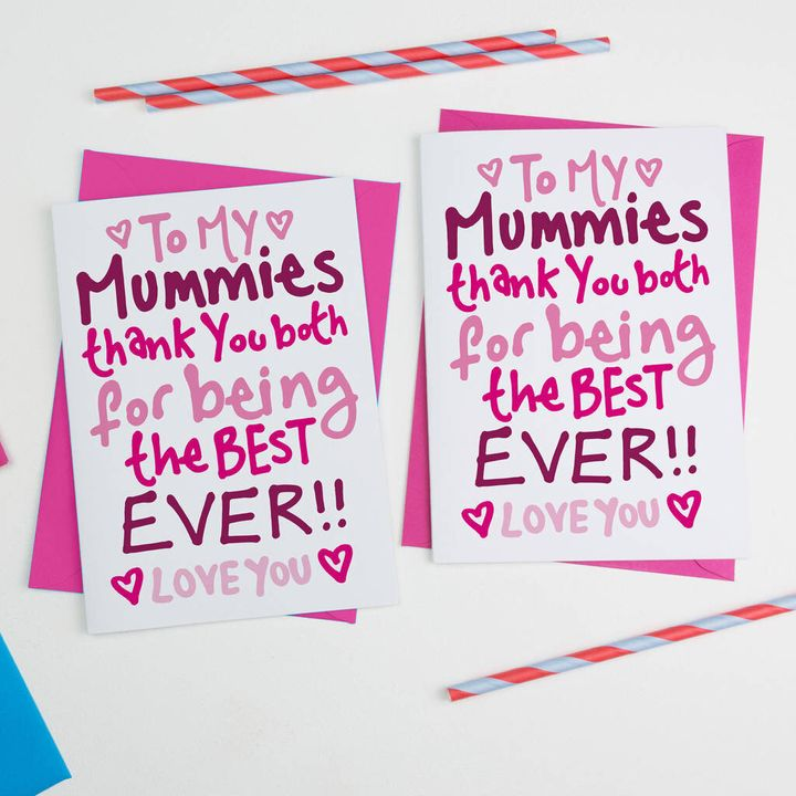 Mothers Day Card For Same Sex Couples, Not On The High Street, £3.80