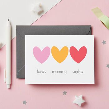 """<a href=""""https://fave.co/3d10u3z"""" target=""""_blank"""" rel=""""noopener noreferrer"""">Personalised Siblings Mother's Day Card, Not On The High Street</a>, &pound;3.95"""