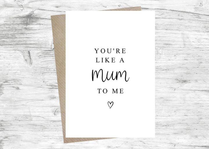 You're Like A Mum To Me Card - Mother's Day Card, Etsy, £2.95
