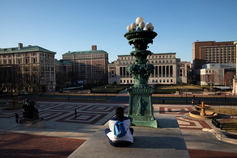 Colleges and universities nationwide, including at New York's Columbia University, have largely shut down and are conducting
