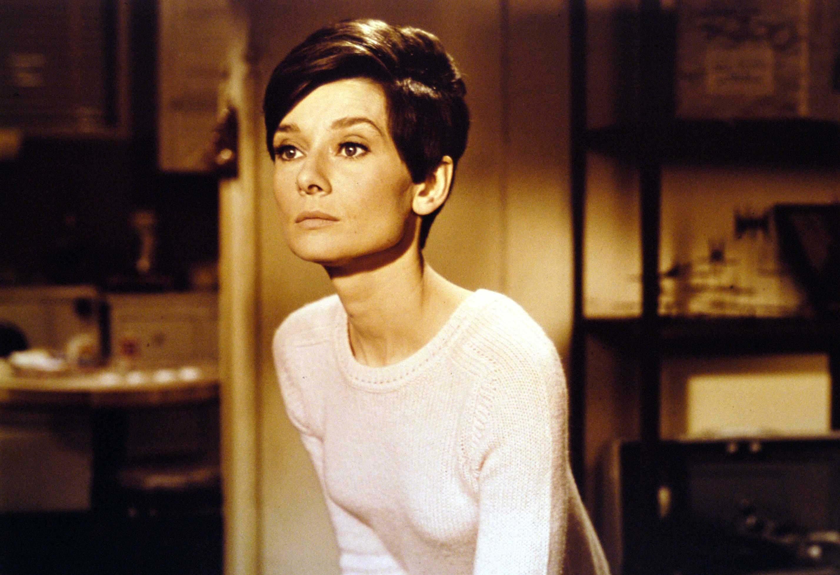"""Audrey Hepburn in """"Wait Until Dark."""""""