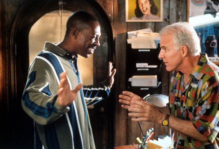 "Eddie Murphy and Steve Martin in ""Bowfinger."""