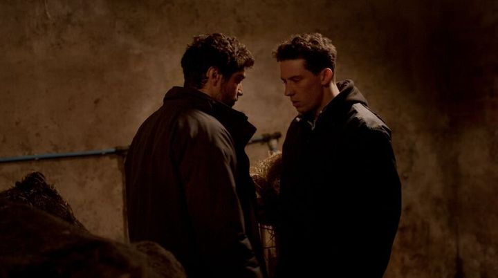 "Josh O'Connor and Alec Secăreanu in ""God's Own Country."""
