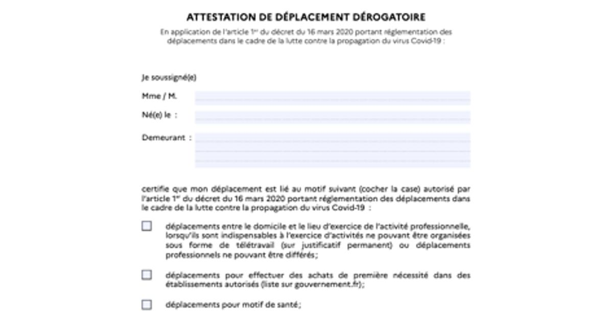 Pas D Imprimante Pour Votre Derogation De Deplacement Pas De Panique Voici Comment Faire Le Huffpost