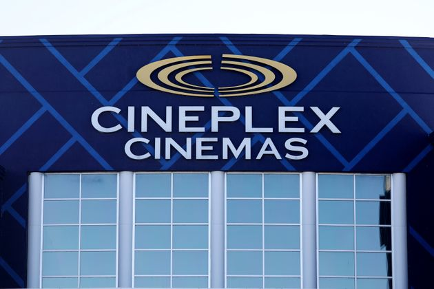 "The Cineplex logo is seen outside a movie theatre in Ottawa on Feb. 14, 2019. ""The time has..."