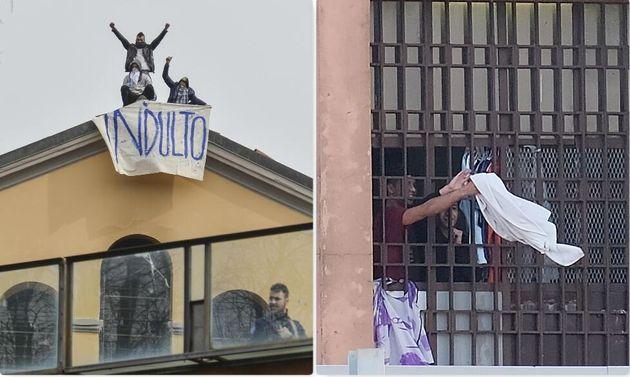 Proteste a San Vittore (Milano) e a