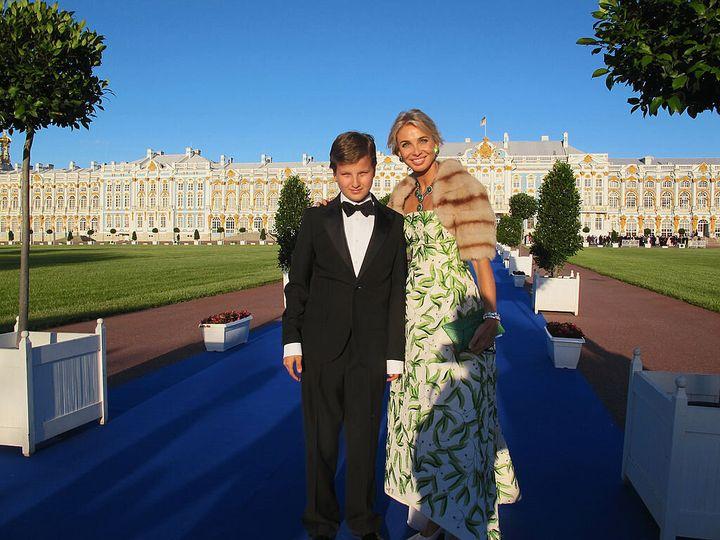 Corinna y su hijo Alexander
