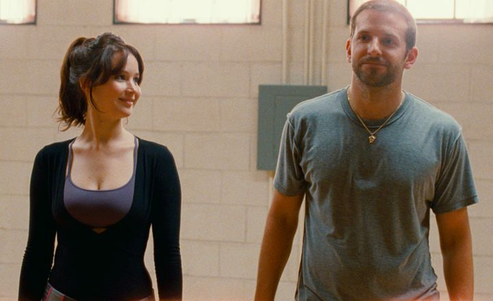 """Lawrence and Cooper in """"Silver Linings Playbook"""""""