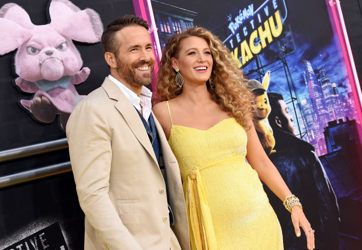"""Ryan Reynolds and Blake Lively at the premiere of """"Pokemon Detective Pikachu"""" in May 2019."""