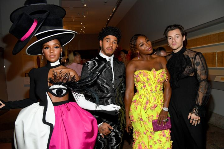 Janelle Monae, Lewis Hamilton, Serena Williams and Harry Styles attend last year's Met Gala Celebrating Camp.