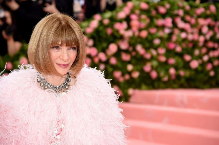 Anna Wintour attends the Met Gala Celebrating Camp: Notes on Fashion at the Metropolitan Museum of Art on May 6, 2019.