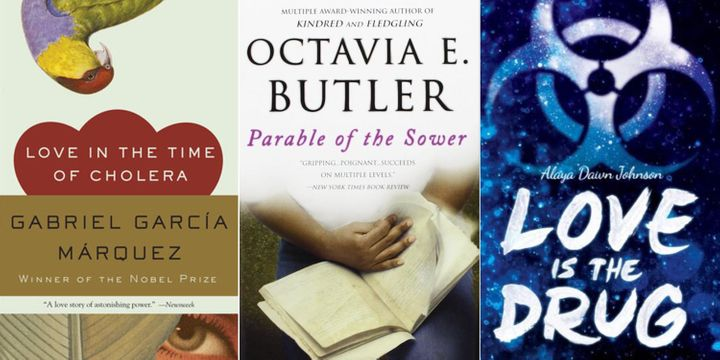 """Love in the Time of Cholera,"" ""Parable of the Sower,"" ""Love is the Drug."""