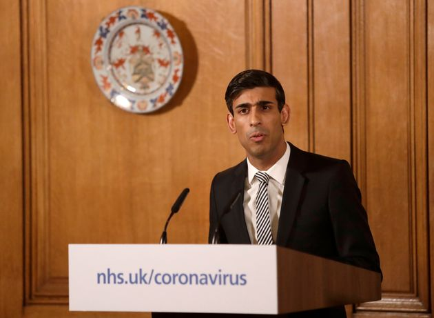 Rishi Sunak gives a press conference about the ongoing situation with the Covid-19 coronavirus outbreak...