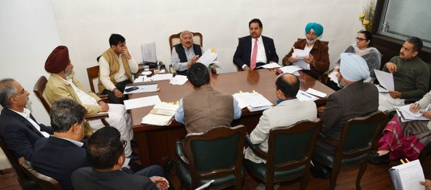 The group of seven Cabinet ministers (GoMs) formed by Punjab Chief Minister Captain Amarinder Singh holding...