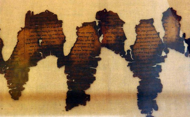 Real fragments of the Dead Sea Scrolls, considered one of the greatest archeological discoveries of the...