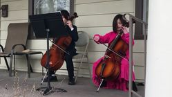 2 Kid Cellists Treat Their Self-Isolating Neighbour To Impromptu Porch