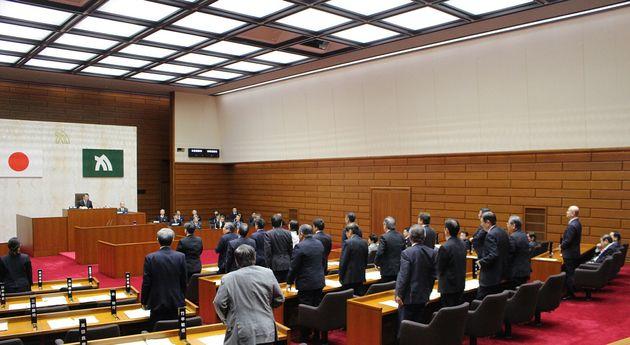 ネット・ゲーム依存症対策に関する条例を賛成多数で可決した香川県議会=3月18日