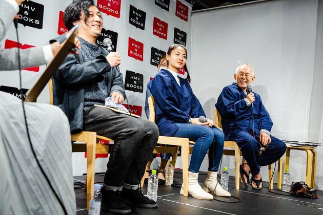 (左から)トークショーに登壇した映画監督の中川龍太郎さん、Kanyadaさん、鈴木さん