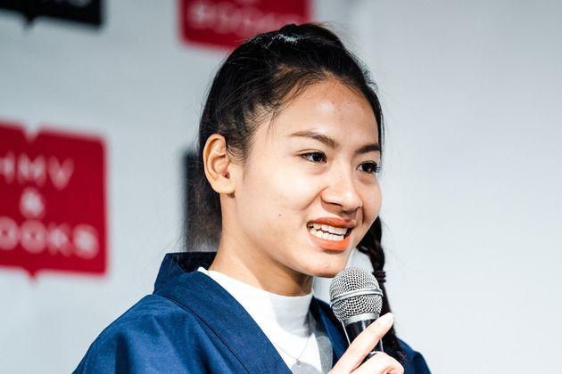 Kanyadaさんも来日した。「みなさんに写真を喜んでもらって嬉しい」と笑顔で感想を語っていた。