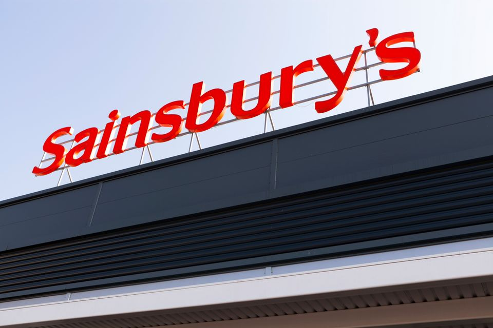 Newport, Wales UK - September 29, 2011: Sainsbury's shop sign at the Crindau store, Newport