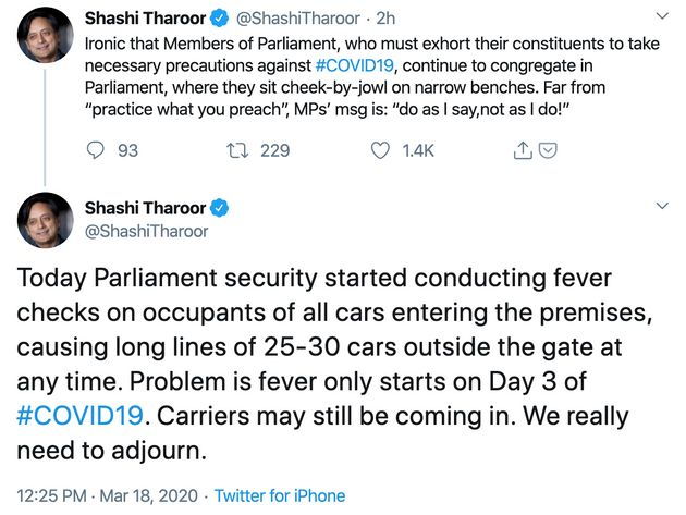 Social Distancing Much? Twitter Stunned At Shashi Tharoor's Picture Of Large