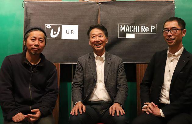左から、まちづくり会社leuk(ルーク)代表取締役の古賀大輔さん、株式会社フューレック 代表取締役社長の藤本慎介さん、UR都市機構西日本支社