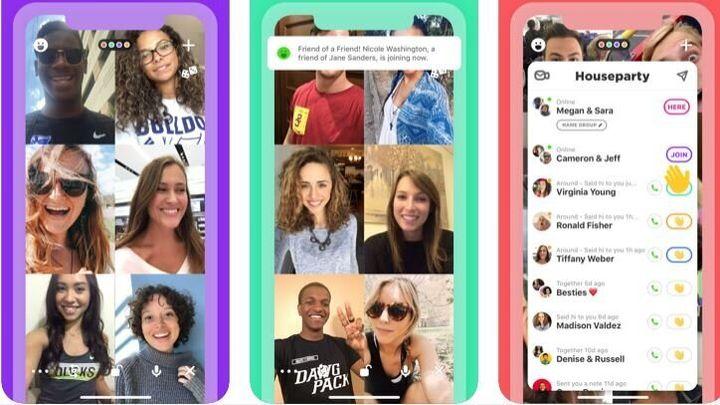 L'application House Party permet de passer des appels vidéo jusqu'à 8 personnes et de jouer à des jeux de société