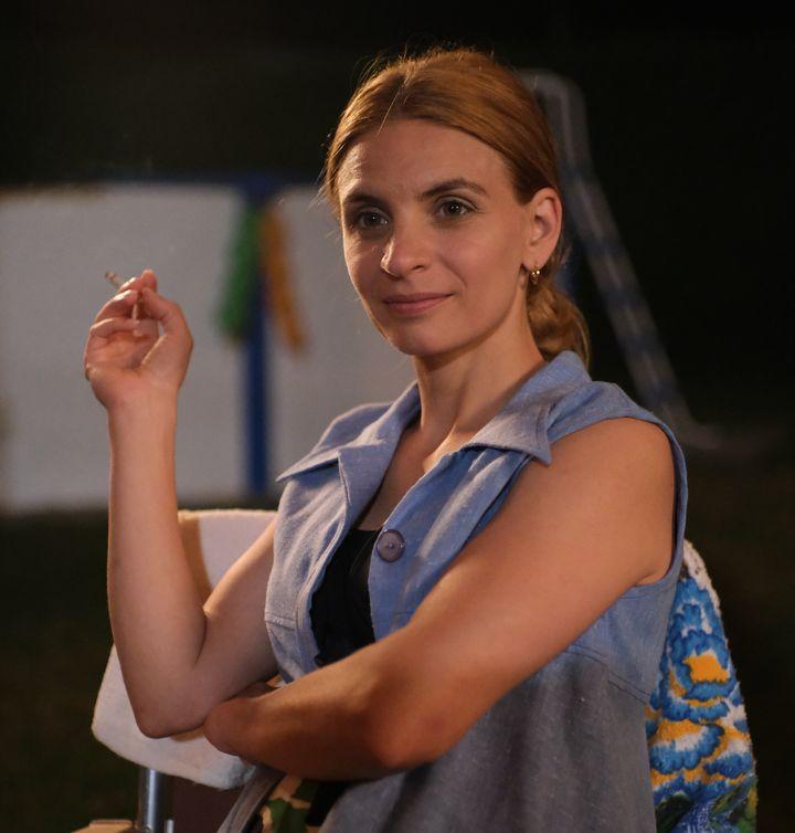 Marilyn Castonguay dans le rôle d'Huguette, dans la série «C'est comme ça que je t'aime»